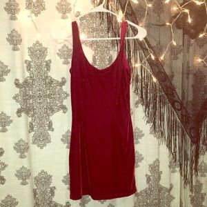 Mini red velvet dress from TOBI